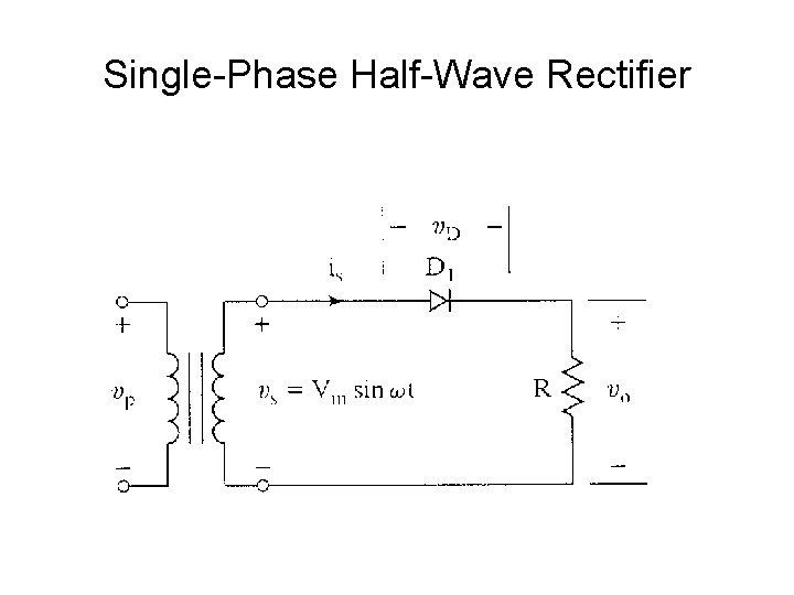 Phase rectifier single single