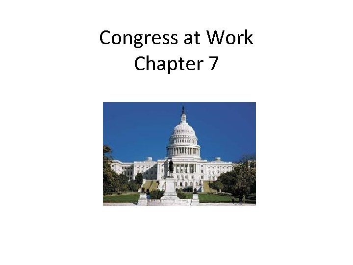 Congress at Work Chapter 7