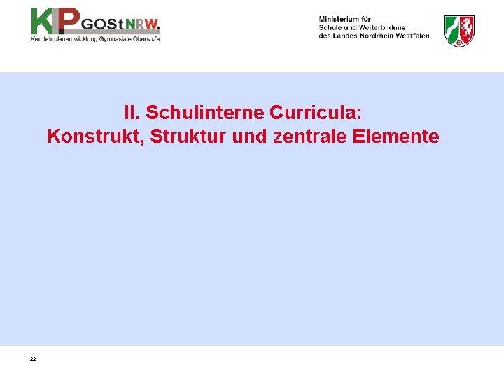 II. Schulinterne Curricula: Konstrukt, Struktur und zentrale Elemente 22