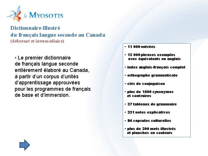 Dictionnaire illustré du français langue seconde au Canada (débutant et intermédiaire) • 11 000