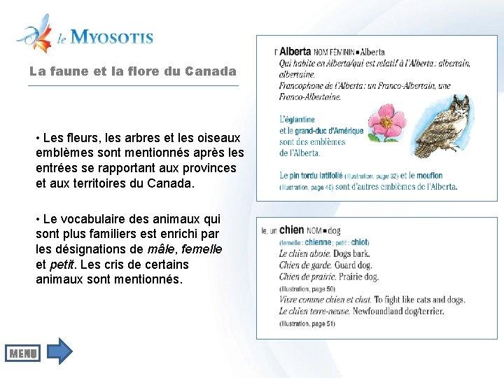 La faune et la flore du Canada • Les fleurs, les arbres et les
