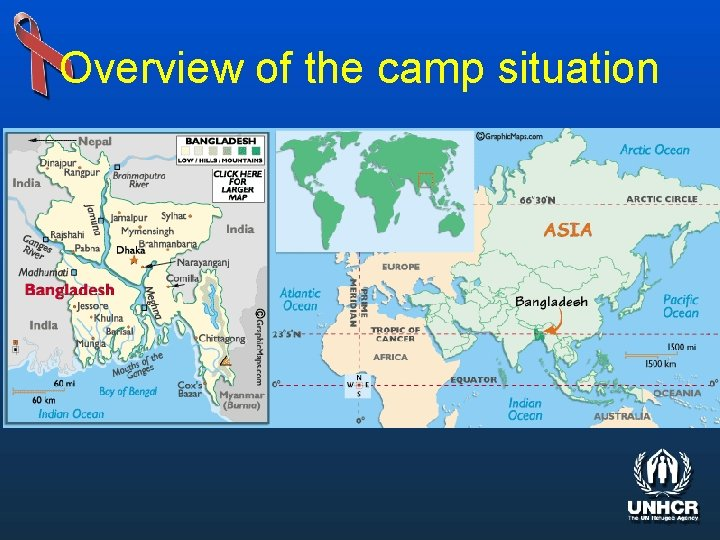 Overview of the camp situation