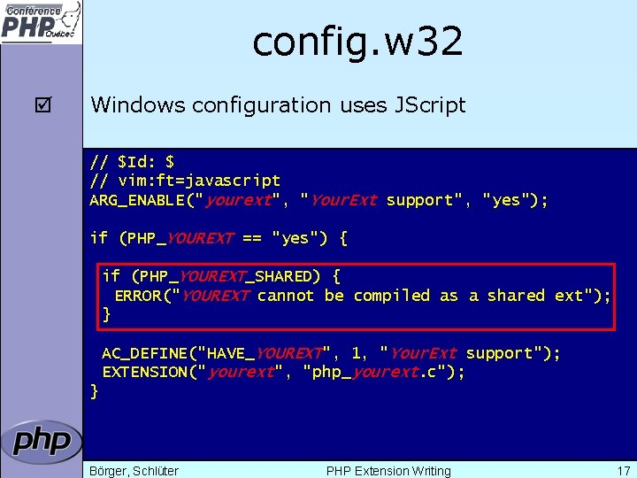 config. w 32 þ Windows configuration uses JScript // $Id: $ // vim: ft=javascript