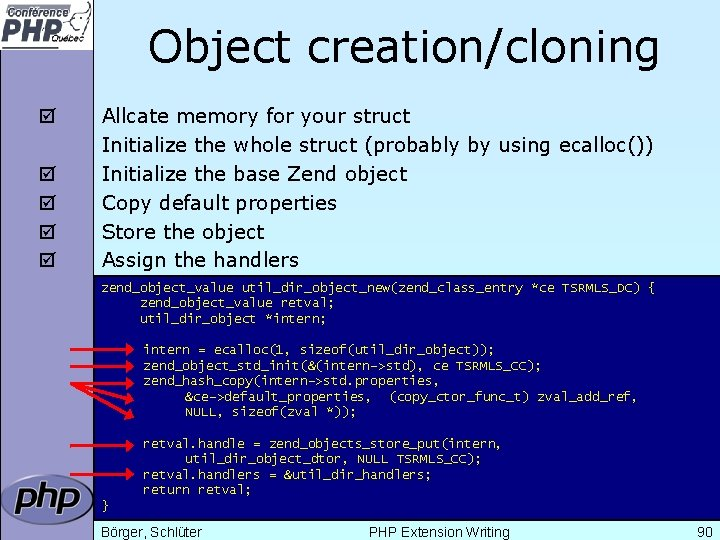 Object creation/cloning þ þ þ Allcate memory for your struct Initialize the whole struct