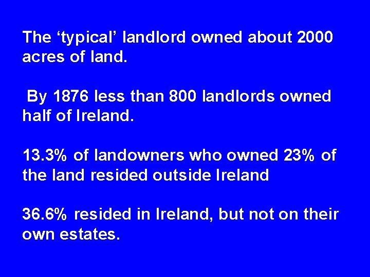 Lecture 5 Land Agitation Eviction at Derrybeg Co