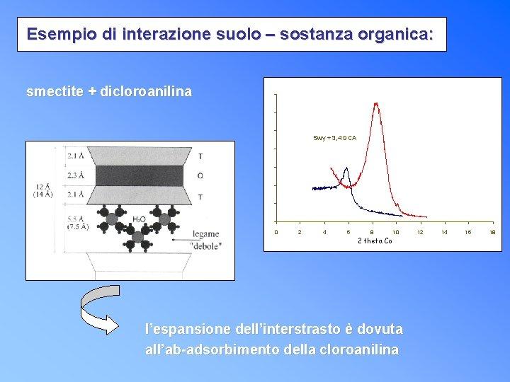 Esempio di interazione suolo – sostanza organica: smectite + dicloroanilina Swy + 3, 4
