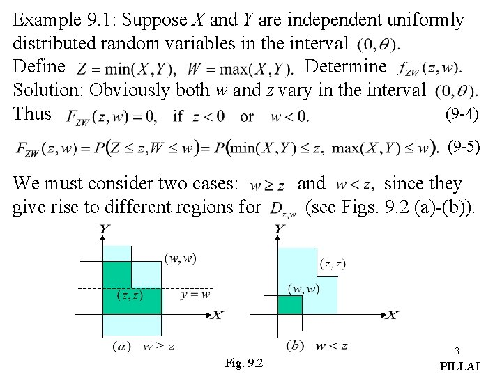 Example 9. 1: Suppose X and Y are independent uniformly distributed random variables in