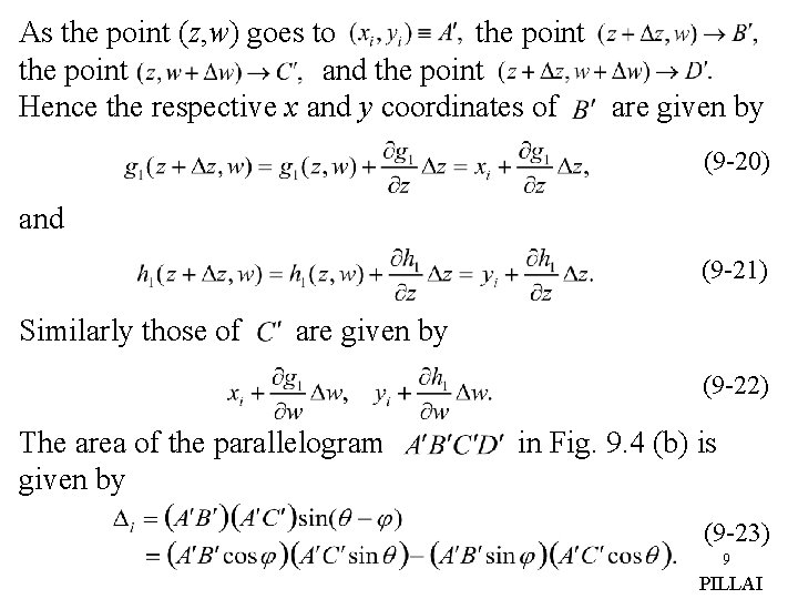 As the point (z, w) goes to the point and the point Hence the