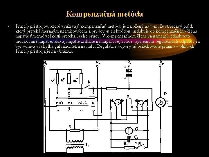 Kompenzačná metóda • Princíp prístrojov, ktoré využívajú kompenzačnú metódu je založený na tom, že