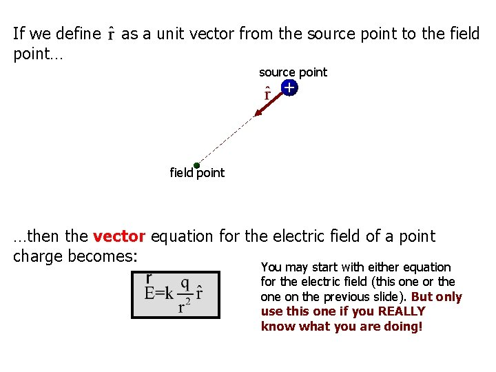 If we define point… as a unit vector from the source point to the