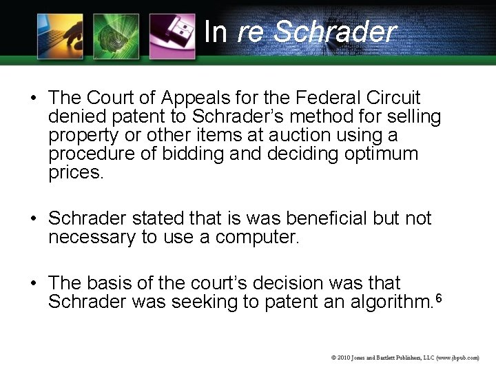 In re Schrader • The Court of Appeals for the Federal Circuit denied patent