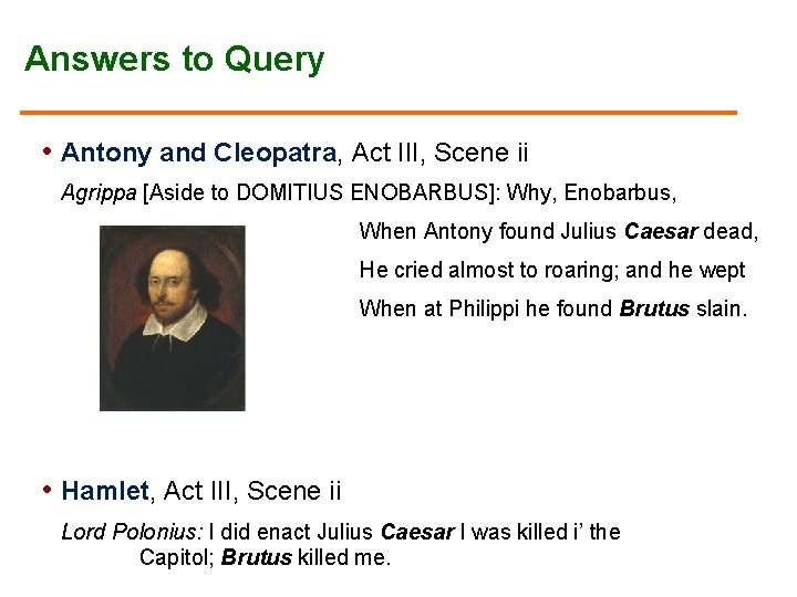 Answers to Query • Antony and Cleopatra, Act III, Scene ii Agrippa [Aside to
