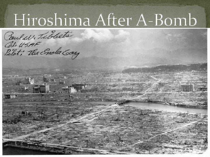 Hiroshima After A-Bomb
