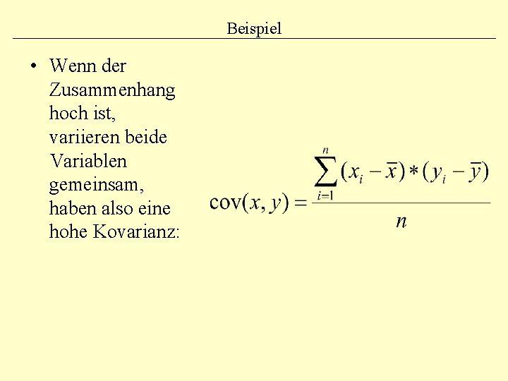 Kovarianz Verstehen Und Berechnen Mit Formel Und Beispiel 0