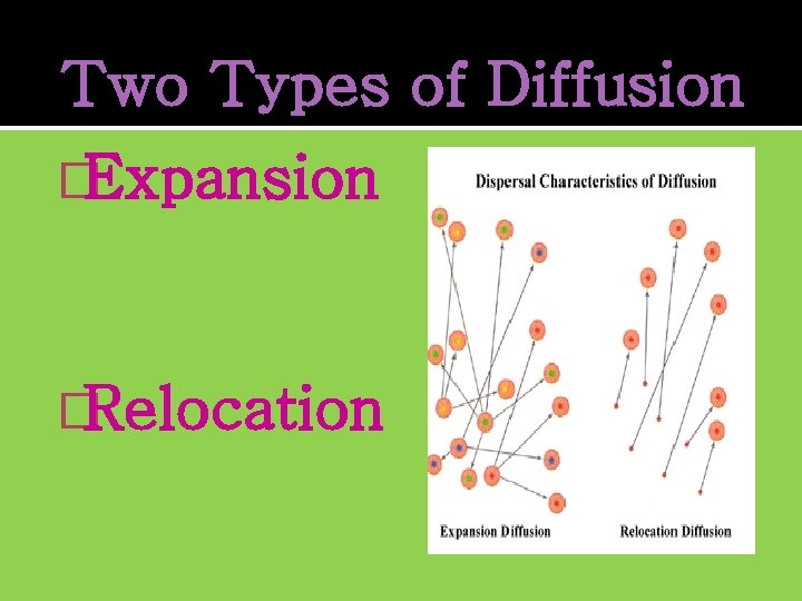 Two Types of Diffusion �Expansion �Relocation