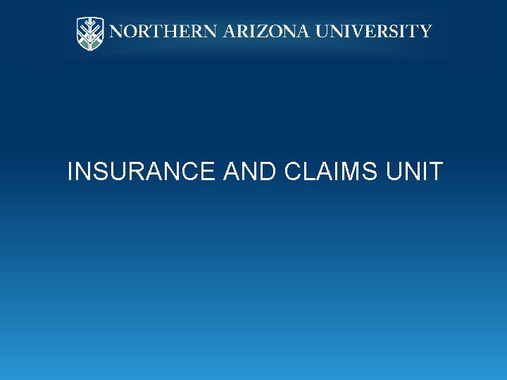 INSURANCE AND CLAIMS UNIT
