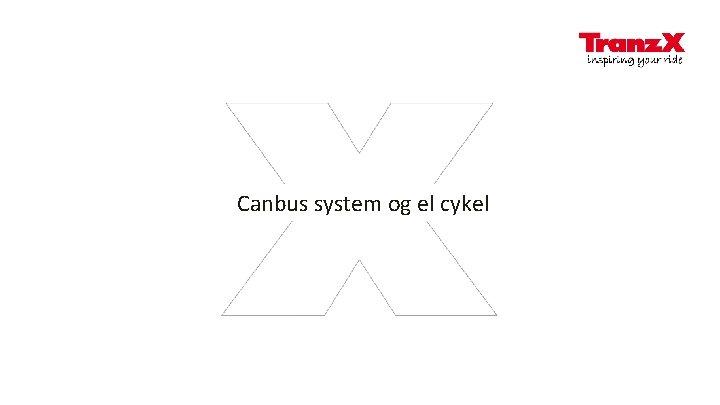 Canbus system og el cykel