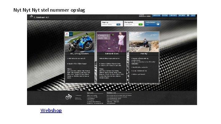 Nyt Nyt stel nummer opslag Webshop
