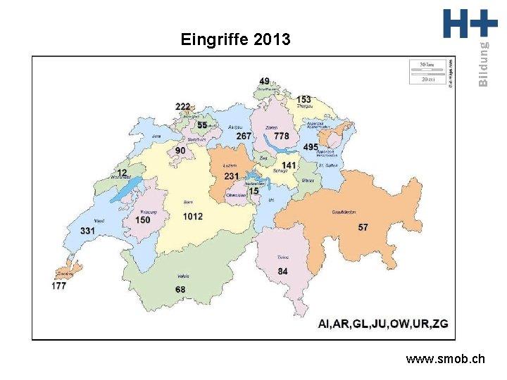 Eingriffe 2013 www. smob. ch