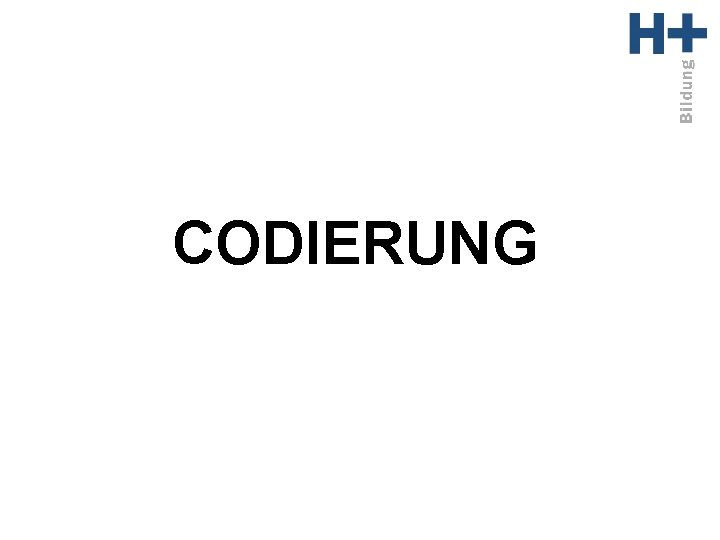 CODIERUNG