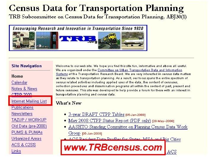 www. TRBcensus. com