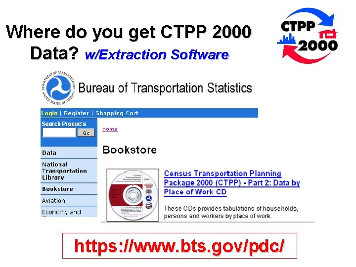 Where do you get CTPP 2000 Data? w/Extraction Software https: //www. bts. gov/pdc/