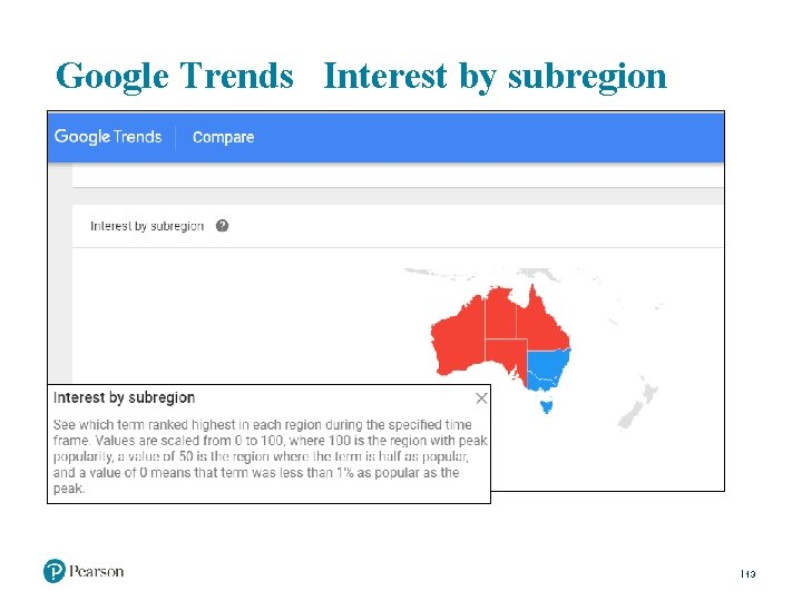 Google Trends Interest by subregion 13