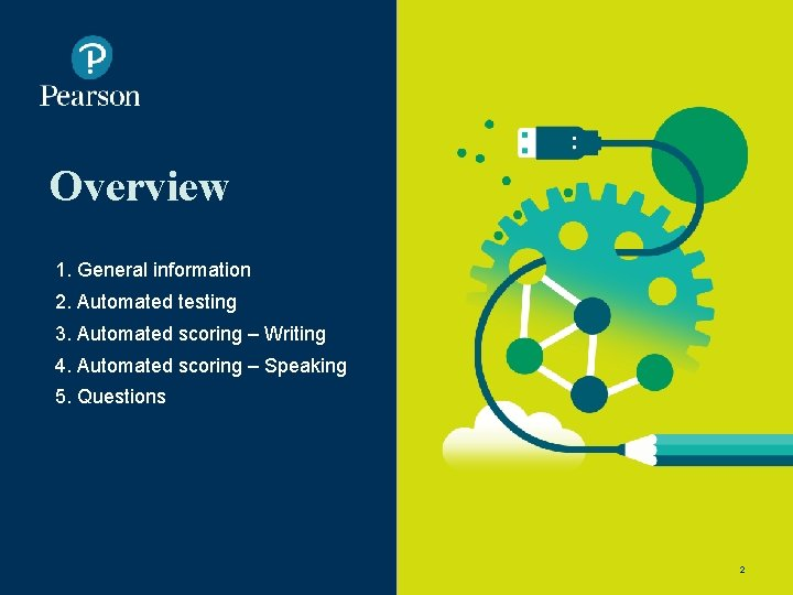 Overview 1. General information 2. Automated testing 3. Automated scoring – Writing 4. Automated