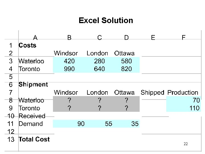 Excel Solution 22