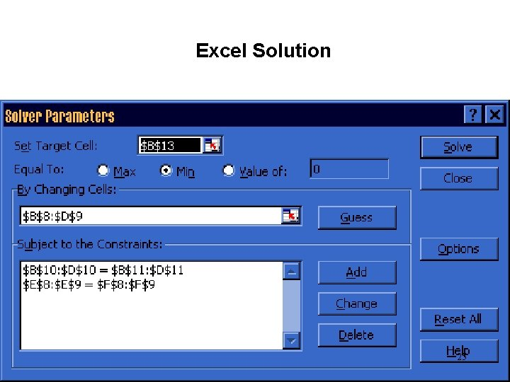 Excel Solution 25