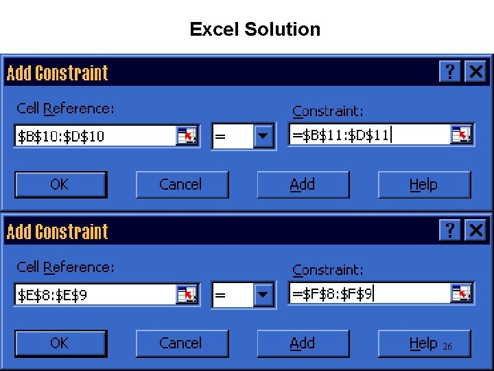 Excel Solution 26