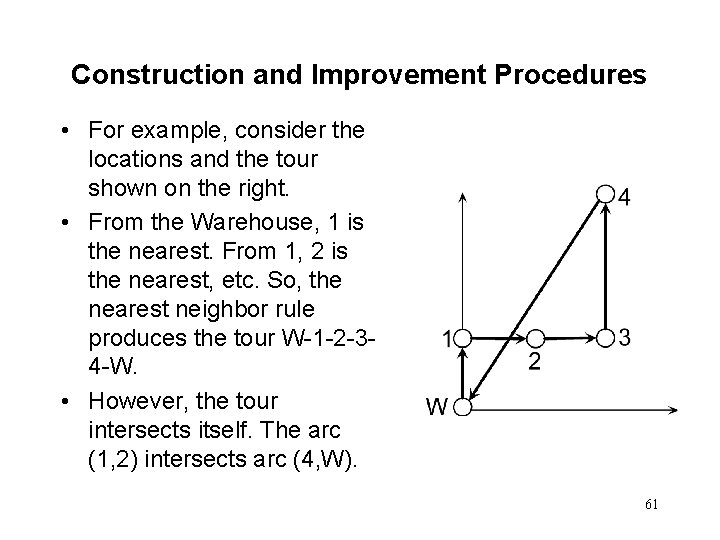 Construction and Improvement Procedures • For example, consider the locations and the tour shown