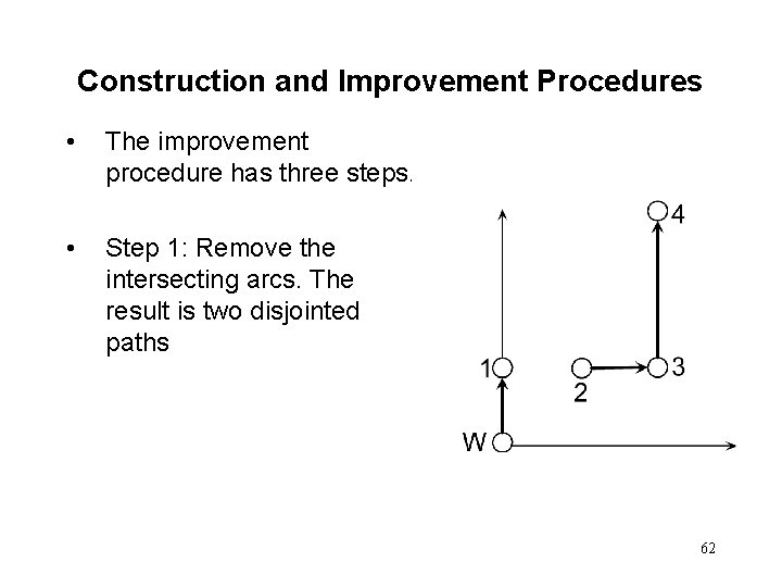 Construction and Improvement Procedures • The improvement procedure has three steps. • Step 1: