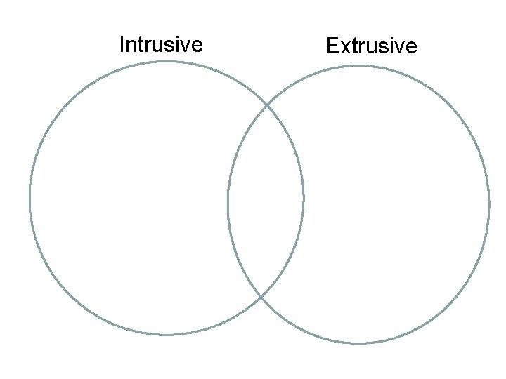 Intrusive Extrusive
