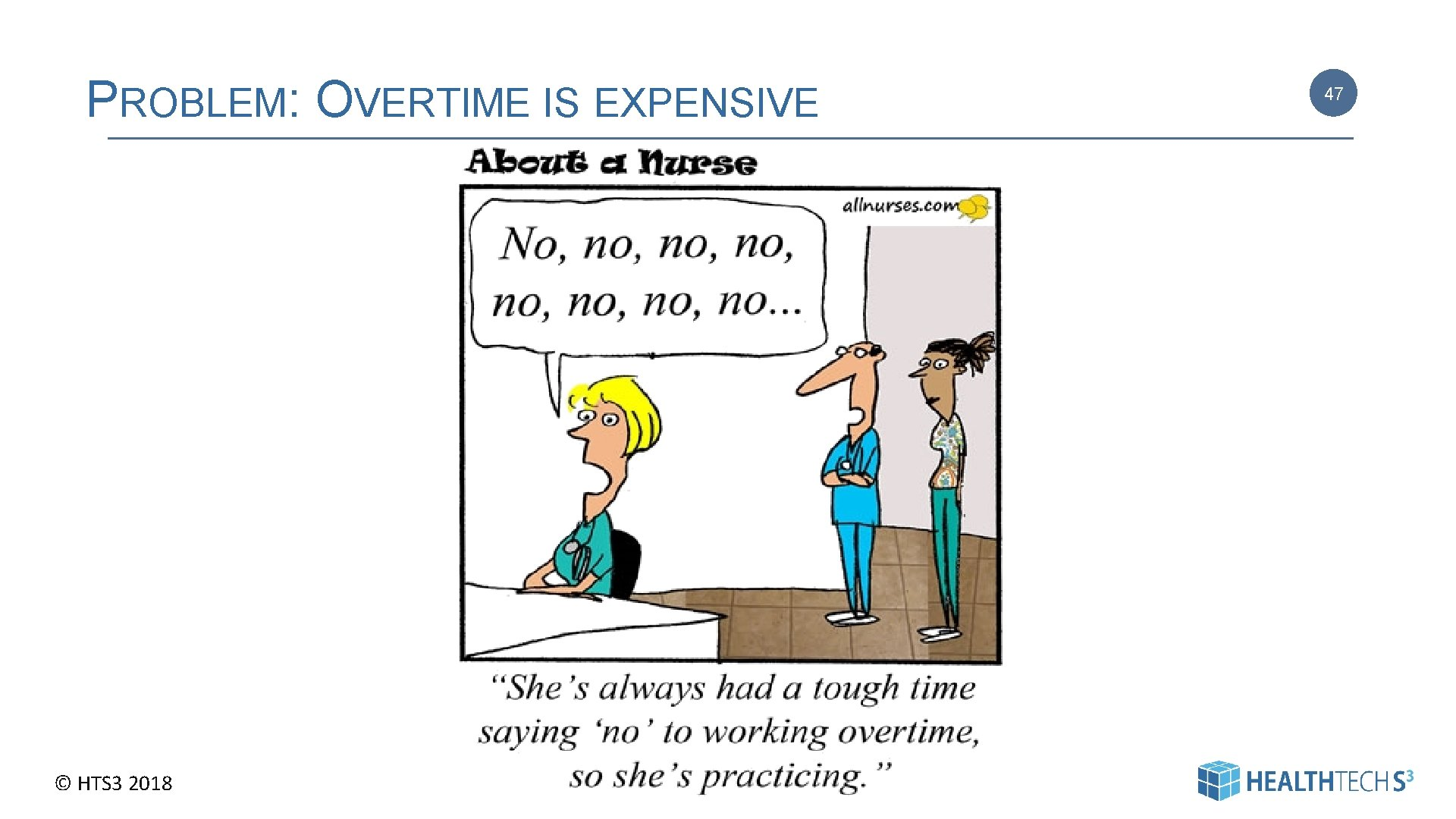 PROBLEM: OVERTIME IS EXPENSIVE © HTS 3 2018 47 | Pag e 47