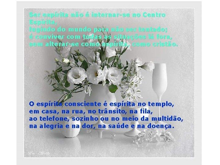 Ser espírita não é internar-se no Centro Espírita, fugindo do mundo para não ser