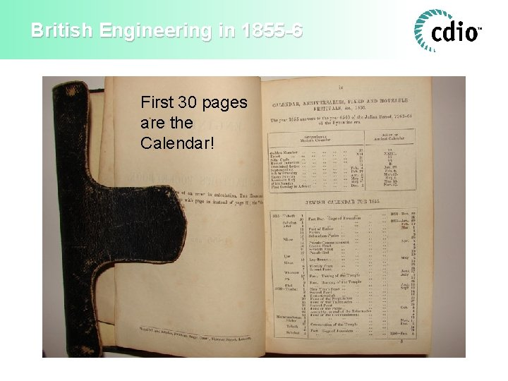 British Engineering in 1855 -6 First 30 pages are the Calendar!