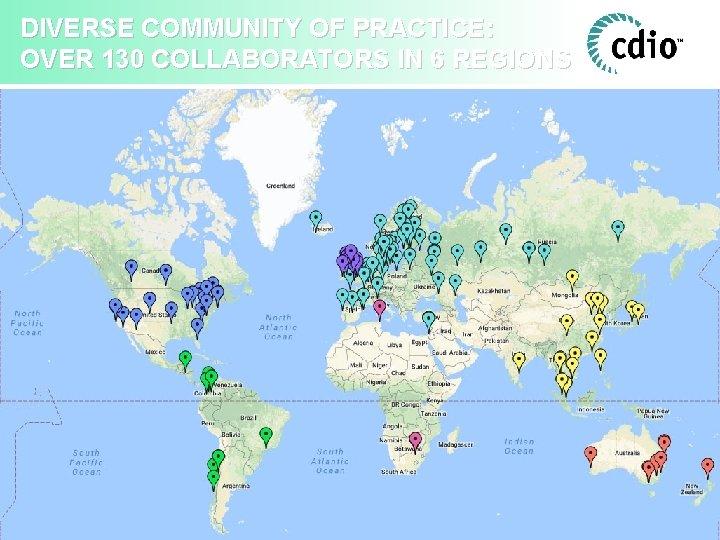 DIVERSE COMMUNITY OF PRACTICE: OVER 130 COLLABORATORS IN 6 REGIONS