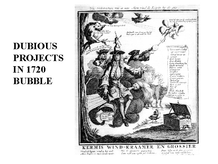 DUBIOUS PROJECTS IN 1720 BUBBLE
