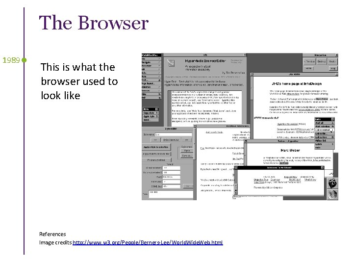 The Browser 1989 This is what the browser used to look like References Image