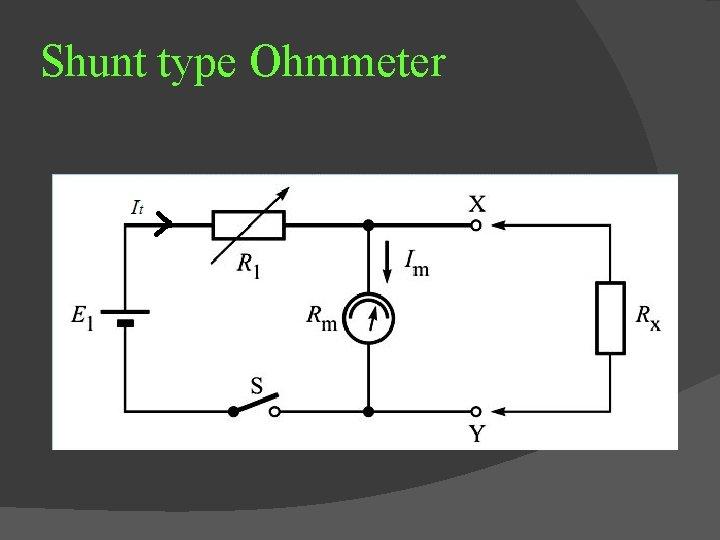 Shunt type Ohmmeter