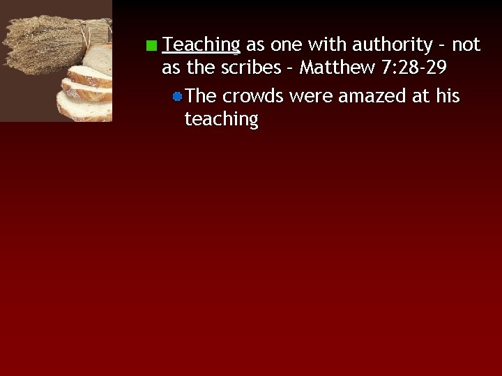 Teaching as one with authority – not as the scribes – Matthew 7: 28