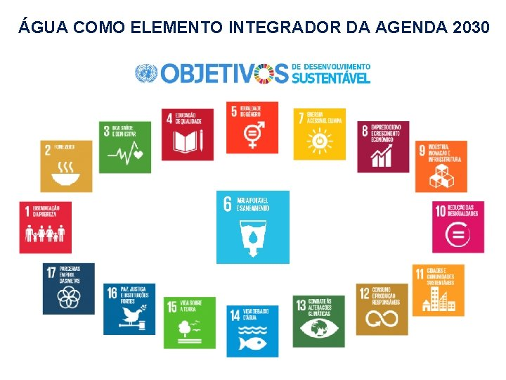 ÁGUA COMO ELEMENTO INTEGRADOR DA AGENDA 2030