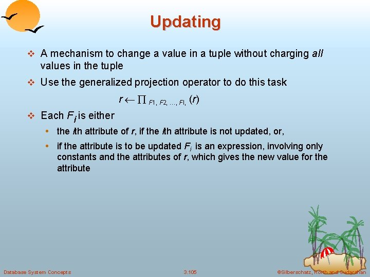 Updating v A mechanism to change a value in a tuple without charging all