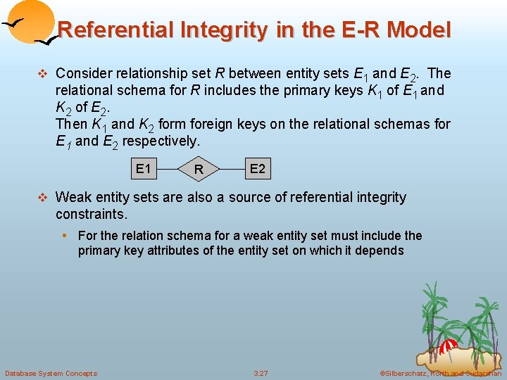 Referential Integrity in the E-R Model v Consider relationship set R between entity sets