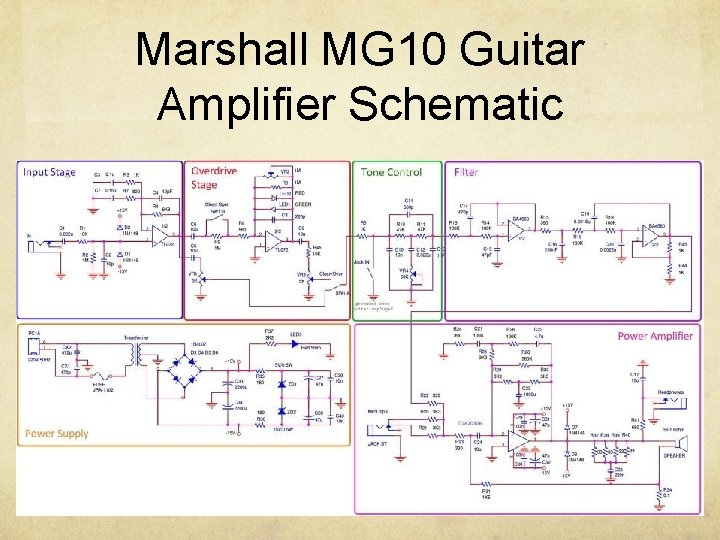 Marshall MG 10 Guitar Amplifier Schematic