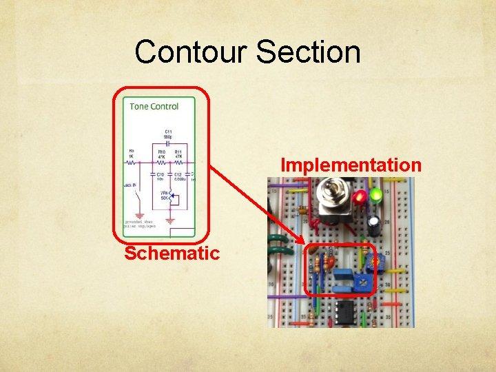 Contour Section Implementation Schematic