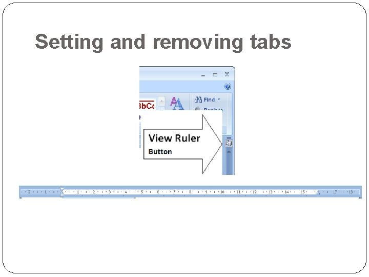 Setting and removing tabs