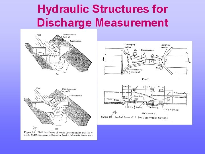 Hydraulic Structures for Discharge Measurement