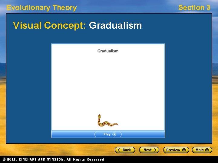 Evolutionary Theory Visual Concept: Gradualism Section 3